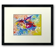 Cat Panther Painting Abstract Art Bright Colors by Ekaterina Chernova Framed Print