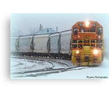 Coming Through the Snow Canvas Print