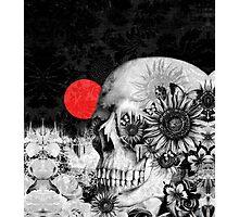 Fire in the dark, night skull Photographic Print