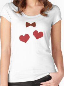 I've got 2 hearts. Women's Fitted Scoop T-Shirt