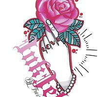 Hand & Rose design InkJet By Treiz by Treiztattoo