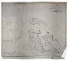 Civil War Maps 0070 Atlantic coast of the United States in four sheets sheet no IV Mosquito Inlet to Key West Poster