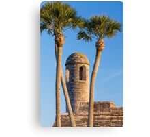 Bell Tower and Palms Canvas Print