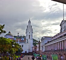 Main Square in Quito Ecuador by Al Bourassa