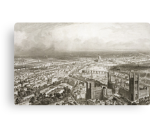 Bird's Eye View of London from Westminster Abbey Canvas Print