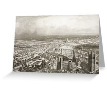 Bird's Eye View of London from Westminster Abbey Greeting Card