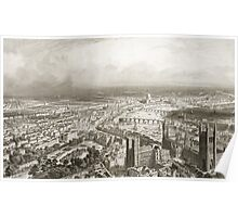 Bird's Eye View of London from Westminster Abbey Poster