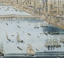 A General View of the City of London and the River Thames by Bridgeman Art Library