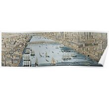 A General View of the City of London and the River Thames Poster