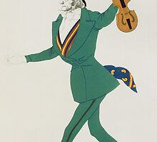 Costume design for Paganini in 'The Enchanted Night' by Bridgeman Art Library