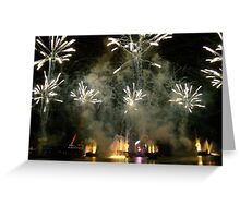 EPCOT FIREWORKS Greeting Card