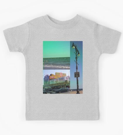 Brighton Beach Collage, Brooklyn, NY Kids Tee