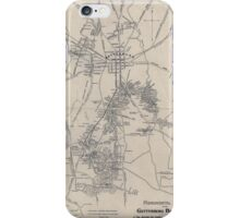 Civil War Maps 1172 Monumental guide to the Gettysburg battlefield A map showing the location of every monument marker and tablet with approaching roads and avenues iPhone Case/Skin