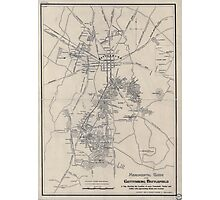 Civil War Maps 1172 Monumental guide to the Gettysburg battlefield A map showing the location of every monument marker and tablet with approaching roads and avenues Photographic Print