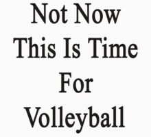 Not Now This Is Time For Volleyball  by supernova23