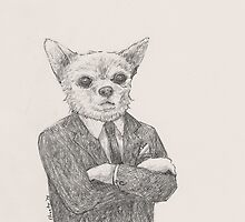 Chihuahua. In a suit. by betsystreeter