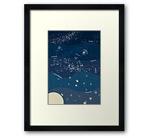 Scale of the Universe - Space Poster Framed Print