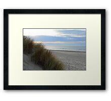Dunes, beach and sea in Zeeland, Netherlands Framed Print