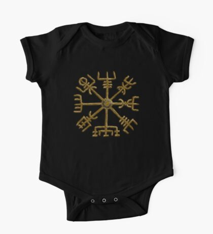 Vegvisir - Icelandic Magical Stave - Protection & Navigation  One Piece - Short Sleeve