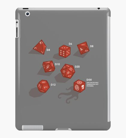 Roll for sanity (dark) iPad Case/Skin