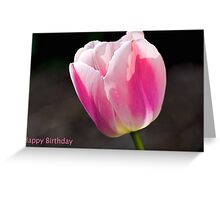 Happy Birthday pink tulip Greeting Card
