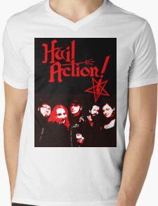 Hail Action Band Photo Mens V-Neck T-Shirt