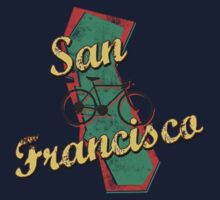 Bike Cycling Bicycle San Francisco California by SportsT-Shirts