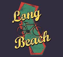 Bike Cycling Bicycle Long Beach California Womens Fitted T-Shirt
