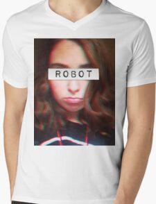 Informal ROBOT Mens V-Neck T-Shirt