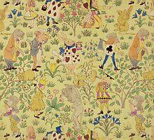 Textile design for 'Alice in Wonderland' by Bridgeman Art Library