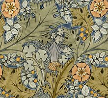 Tudor roses, thistles and shamrock by Bridgeman Art Library