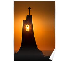Holy sunset in Samos island Poster