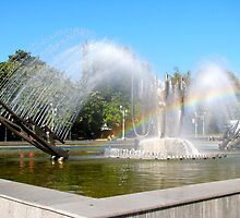 "The kinetic fountain  in front of the Cultural Palace ""Theodor Costescu"" by Dennis Melling"