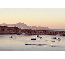 View on calm bay with yachts and boats Photographic Print