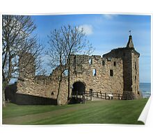 St Andrews Castle, St Andrews, Scotland Poster