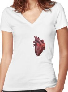 HUMAN HEART!! Women's Fitted V-Neck T-Shirt