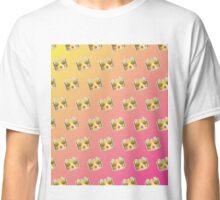 Crown Emoji Pattern Pink and Yellow Classic T-Shirt