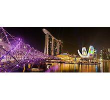 The Helix Bridge Photographic Print