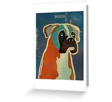 the boxer Greeting Card