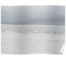 Snow covered beach  Poster