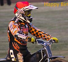 Speedway Birthday Card by ejrphotography