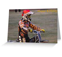Speedway Birthday Card Greeting Card