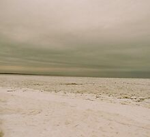 Snow covered beach 2 by GleaPhotography