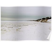 Beach in winter  Poster