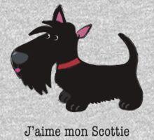 J'aime mon Scottie (I love my Scottie – French) by BonniePortraits