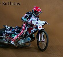 Speedway Bike birthday card by ejrphotography