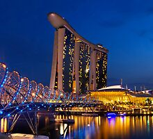 Singapore Twilight by jswolfphoto