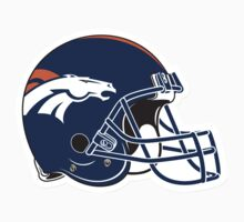 "NFL… Football ""HELMET"" Denver Broncos by artkrannie"