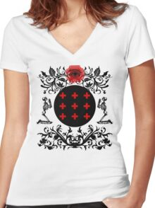 Occult theme  Women's Fitted V-Neck T-Shirt