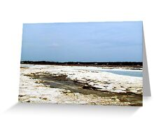 Snow Landscape Greeting Card